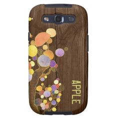 Unique Wood Texture Trees SamSung Galaxy S3 Vibe Galaxy S3 Cover