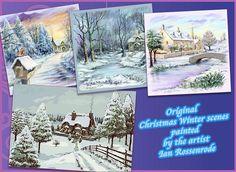 Christmas Winter Scenes by Ricochet on @creativemarket