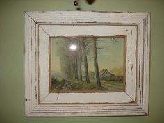 Re-purposed materials used - Old wood trim.