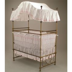 Just lay-away-ed one similar to this at a resale store for the New Baby to be :)  old brass canopy bed <3