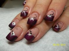 purple and blue nail designs | ... purple-gel-nail-design-with-black-polka-dot-gel-nails-pictures-design