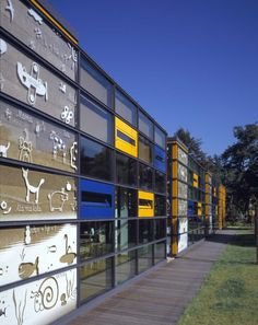 Kindergarten in Warsaw Daycare Design, School Design, Learning Spaces, Learning Environments, Building Facade, Building Design, School Architecture, Architecture Design, Kindergarten Design