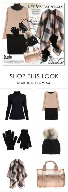 """""""Show Off Your Winter Wardrobe Staples"""" by svijetlana ❤ liked on Polyvore featuring Rumour London, Boohoo, Inverni, Alexander Wang, polyvoreeditorial, winterstaples and plus size dresses"""