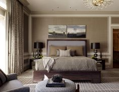 Thematic Masculine Bedroom Ideas Exposing the Hidden Man Side: Appealing In The Contemporary Bedroom With Taupe Color Of Wall Decor In The M. Brown Master Bedroom, Relaxing Master Bedroom, Cozy Bedroom, Home Decor Bedroom, Bedroom Ideas, Master Bedrooms, Bedroom Inspiration, Queen Bedroom, Bedroom Photos