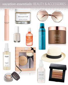 Beauty essentials you need for your vacation. Look like a bronzed goddess! Beauty products you need while traveling to feel your best