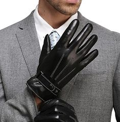 Harrms Best Luxury Touchscreen Italian Nappa Leather Gloves for men's Texting Driving Cashmere Lining Standard Size), BLACK(Cashmere Lining )) Best Winter Gloves, Winter Gear, Herren Winter, Cold Weather Gloves, Thing 1, Driving Gloves, Leather Gloves, Italian Leather, Fashion Brands