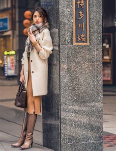 2016/01/20:365日コーディネート   Oggi.jp Fashion Essay, Work Fashion, Urban Fashion, Fashion Pants, Daily Fashion, Womens Fashion, Japanese Outfits, Japanese Fashion, Winter Boots Outfits