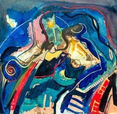 "Pintura por Argentino Enrique Llorens ""Abstracto De Música."""