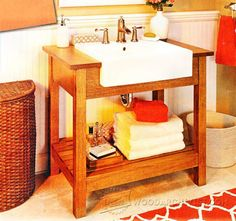 Craftsman-Style Sink Stand Plan - Furniture Plans and Projects | WoodArchivist.com