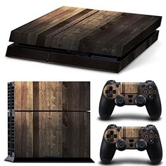 Skin Ps4 Pro Limited Edition Vinyl Glossy Decal Sturdy Construction Wooden Wood White Texture