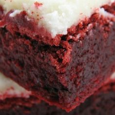 Red Velvet Brownies with Cream Cheese Icing
