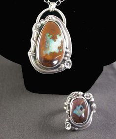 Koroit Opal Vine Pendant and Ring by Simply_Adorning, via Flickr