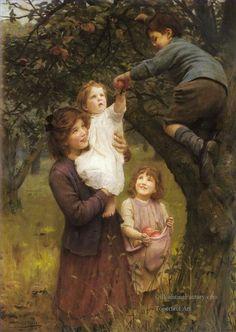 6-Picking-Apples-idyllic-children-Arthur-John-Elsley.jpg (497×700)