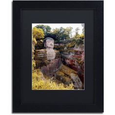 Trademark Fine Art Giant Buddha II Canvas Art by Philippe Hugonnard, Black Matte, Black Frame, Assorted
