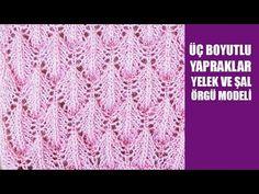 SİMLİ İPLE 3D YAPRAKLI ÖRGÜ TARİFİ | Nazarca.com