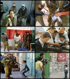 Israeli soldiers and kids V.S Palestinian people and kids!