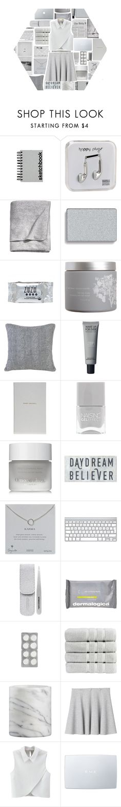 """""""grey"""" by idonthavebrains ❤ liked on Polyvore featuring Paperchase, Happy Plugs, H&M, Mary Kay, INC International Concepts, red flower, Peking Handicraft, Smythson, Nails Inc. and Omorovicza"""