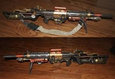 Nerf Steampunk Assault Rifle and other steamy bits.
