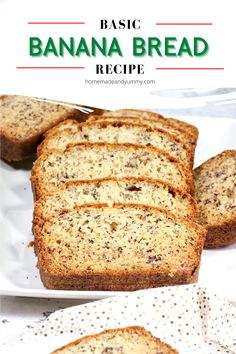 Moist and delicious, this is the best banana bread recipe. Simple is best. Just like grandma used to make. #homemadeandyummy #bananabread #quickbread #bananarecipes #easy #moistbananabread | homemadeandyummy.com