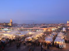 Food Stalls, DJemaa el Fna, Marrakech, Morocco, North Africa, Africa Photographic Print by Vincenzo Lombardo at Art.com