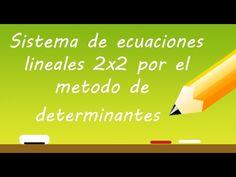 Sistema de ecuaciones lineales 2x2 por el Metodo de determinantes o regla de cramer | Profe Varona