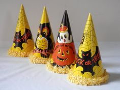 Vintage 50's  Halloween Party Hats and Noisemaker by bigbangzero, $44.00