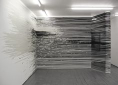 "2 | Monika Grzymala Spins ""3-D"" Drawings From 27,000 Feet Of Tape 