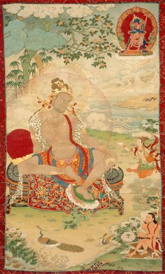 Tibetan Buddhist Thangka of Tilopa (Kagyu Lineage Master)