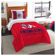 NCAA Northwest Modern Take Twin Comforter Set Fresno State Bulldogs - 64 x 86