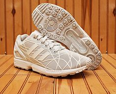 1492b9056 Adidas Originals ZX Flux Size 7 - White On White - Art AQ6779