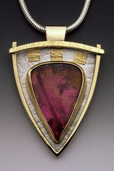 Linda Lewis Jewelry - Liddicotite Tourmaline Pendant