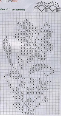 Zambak lar Crochet Curtain Pattern, Crochet Tablecloth Pattern, Crochet Curtains, Crochet Chart, Filet Crochet, Crochet Stitches, Bead Loom Patterns, Crochet Patterns, Cross Stitch Designs