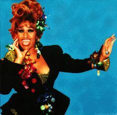 Celia Cruz.  Una MEGA ARTISTA, se re-invento muchas veces y canto hasta el final, con gracia, elegancia y amor. Eres una inspiracion Mi Negra Bella, La guarachera de Oriente.