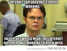 Internet Explorer stopped working…