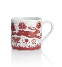 This pretty hare print mug adds a delicate sense of femininity to afternoon tea or coffee mornings. Made from porcelain, it's microwave and dishwasher safe for added convenience and versatility. We love the idea that it's bringing a little of the outdoors into your home - a key trend for Autumn Winter 2012! £6 from Marks and Spencer