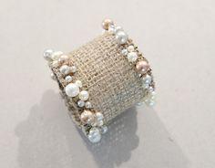 DIY Napkin Ring with Burlap