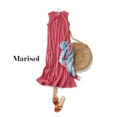 アラフォーはスラっと縦長ワンピースでピンクを取り入れるのが正解!【2018/5/26コーデ】|Marisol ONLINE|女っぷり上々!40代をもっとキレイに。 Pink Fashion, Daily Fashion, Love Fashion, Retro Fashion, Fashion Beauty, Fashion Looks, Womens Fashion, Pink Outfits, Chic Outfits