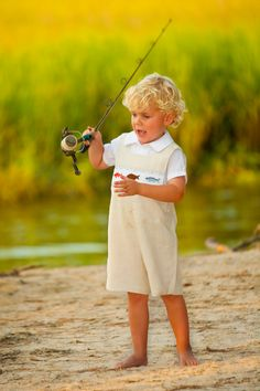 Red Fish, Flounder and Trout hand smocked Jon Jon by Crescent Moon Children.  #childrensclothing #boutiquekidsclothes #kidsclothes