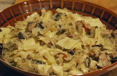 Aromatyczne Podróże: Lazanki z białej kapusty Kielbasa, Veggie Recipes, Pasta Salad, Potato Salad, Macaroni And Cheese, Bbq, Veggies, Potatoes, Ethnic Recipes
