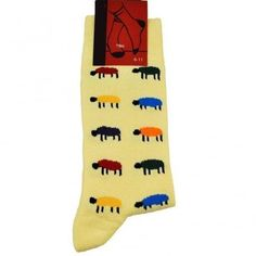 Cotton rich yellow socks in sheep design. Men's size These novelty socks are the perfect gift idea. Mens Novelty Socks, Yellow Socks, Lemon Yellow, Yellow Background, Sheep, Cotton, Shopping, Farming, Gifts