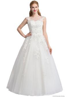 Ball-gown wedding dress, so gorgeous.   #JJsHouse #JJsHouseWeddingDress