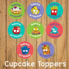 Grossery Gang Cupcake Toppers DIY