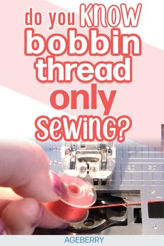 Use your machine sewing bobbin thread only for projects and patterns that require low profile stitching, perfect for beginners making crafts or clothes with darts. Use this hack tutorial to make gifts ideas as these tips for the sewing machine will make you an instant pro.