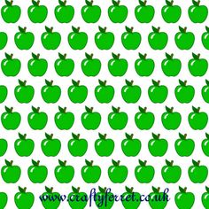 Free to download and print green apple motif craft backing paper from Crafty Ferret.