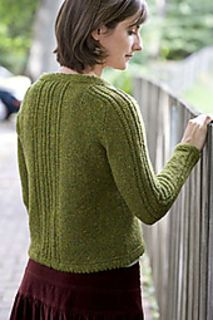 Ropes and Picots Cardigan pattern by Laura Grutzeck