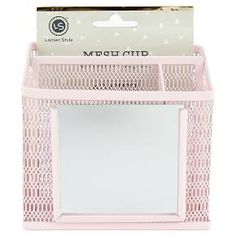 Locker Style™ Mesh Utility Cup with Mirror - Blush : Target