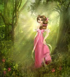 Belle Enchanted by ~Elf-in-mirror on deviantART
