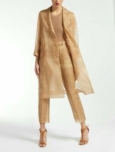 Look Fashion, Hijab Fashion, Fashion Outfits, Fashion Design, Fashion Trends, High Fashion Dresses, Couture Fashion, Beige Outfit, Organza Dress