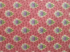 Raspberry souleiado fabric by societe charles demery from france