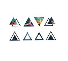 8pcs galaxy triangle temporary tattoo
